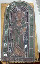 Stained Glass Panel of St Mark