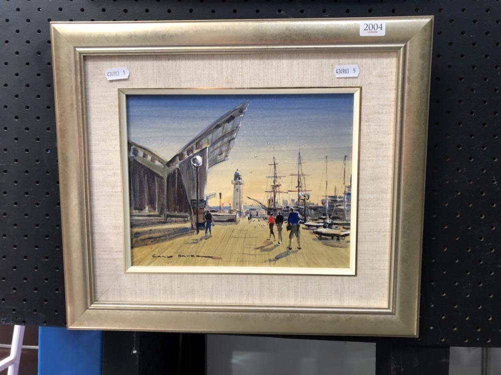 "Gary Baker, ""Maritime Museum"", oil on board, 40 x 34cm, signed lower right"