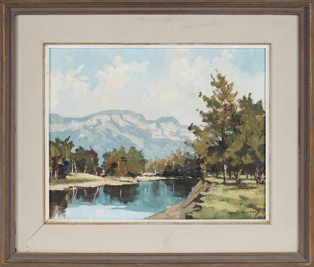 Rhys Williams (1894 - 1976) - Still Waters, Burragorang 29 x 36.5cm