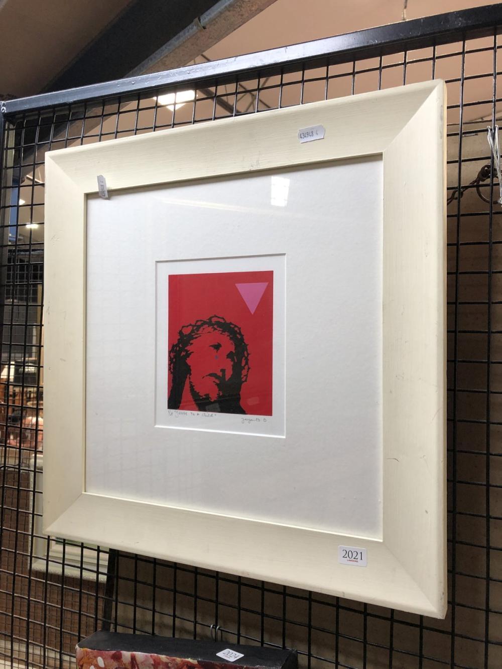 Yayanto Damanik - 'Jesus to a Child', ed. 1/4 frame size - 43 x 43cm