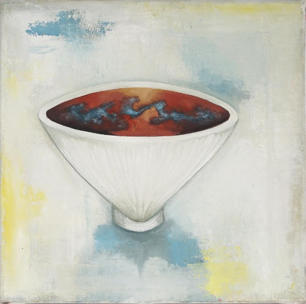 Margot Hutcheson (1952 - ) - White, 1998 35.5 x 35.5cm