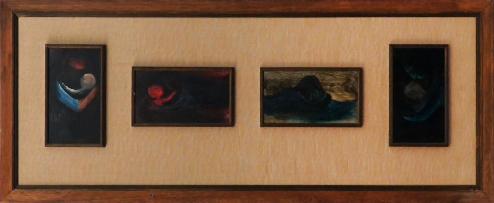 S.A. Bambrick - Figures 12 x 22cm, each (frame: 48 x 116.5cm)