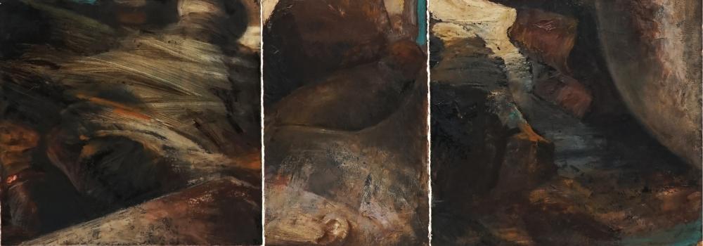 Noel Thurgate (1955 - ) - Untitled 38 x 109cm