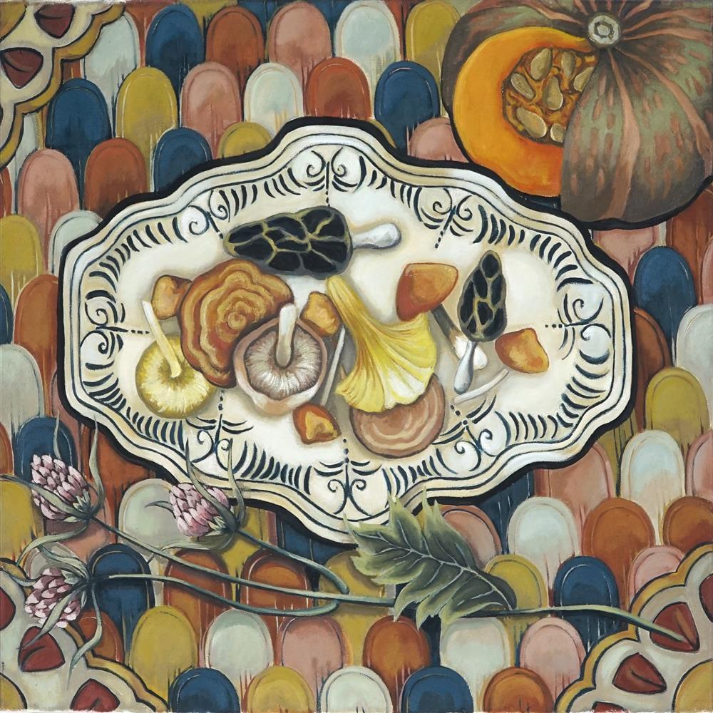 Margot Hutcheson (1952 - ) - Fungi Colours, 1998 56 x 61cm