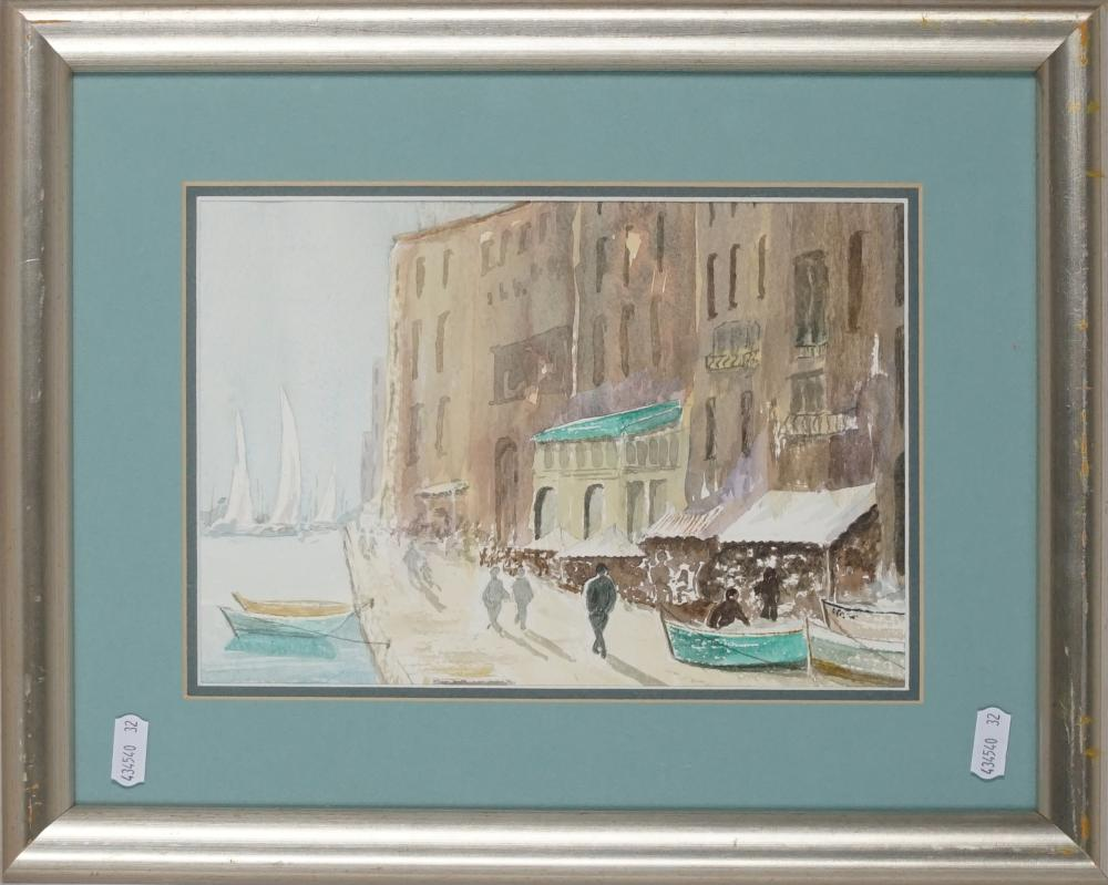 Kate Suggate - 'Waterfront, Italy' 31.5 x 39cm -