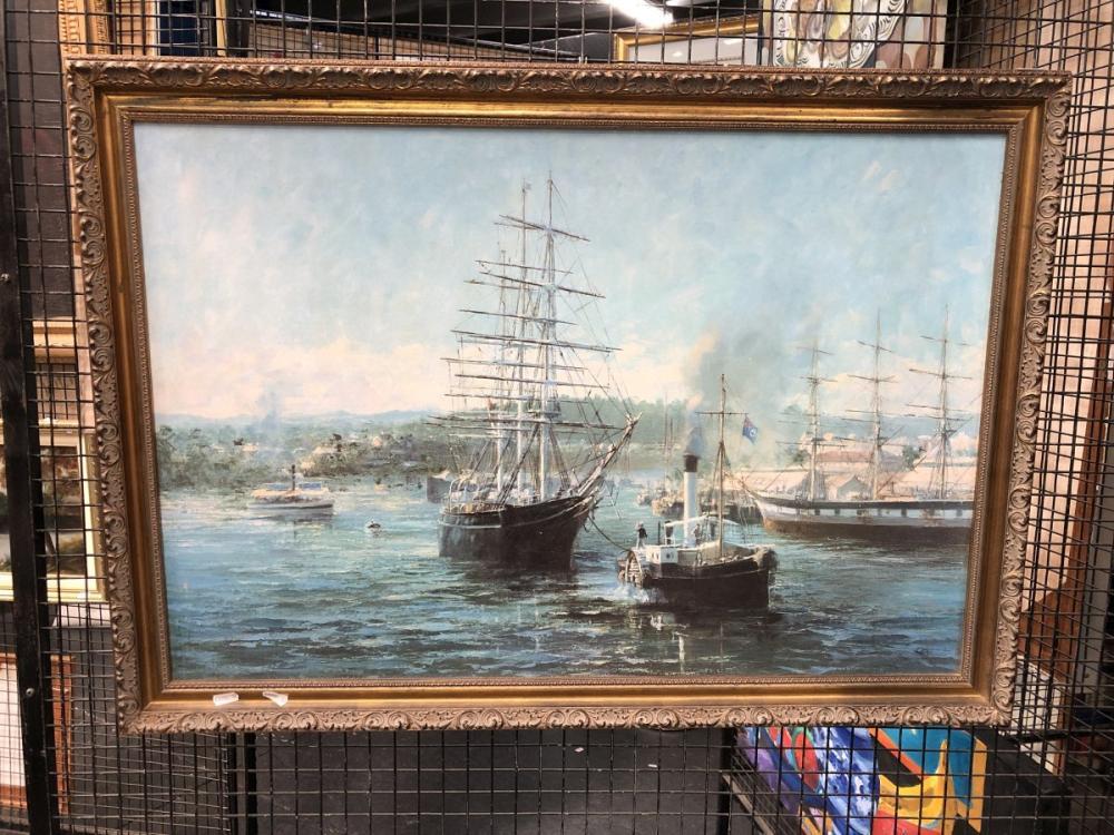 Artist Unknown - Maritime Scene, Oil On Board, Signed Lower Right