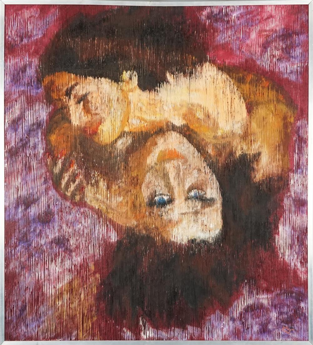 Jules Michel (1931 - ) - Love 1974 98 x 86.5cm
