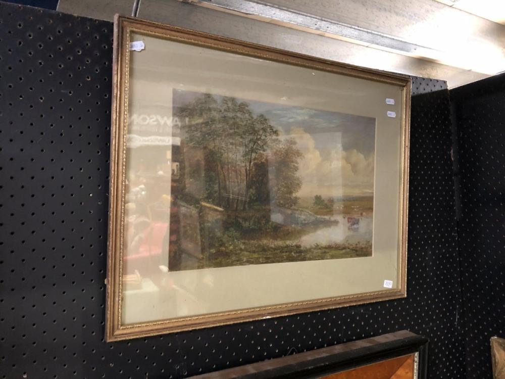 Artist Unknown - 'Pastoral Scene', oil on canvas, frame size - 48 x 63cm