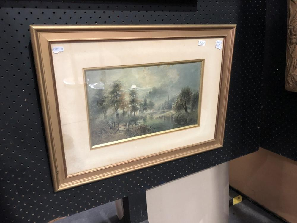 William Henry Rawthorn - 'On the Avon', watercolour, frame size - 44 x 60cm, signed lower rightb