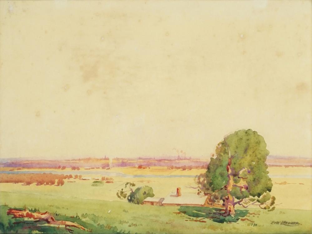 Erik Langker (1898-1982) - Towards the City 25 x 35.5cm