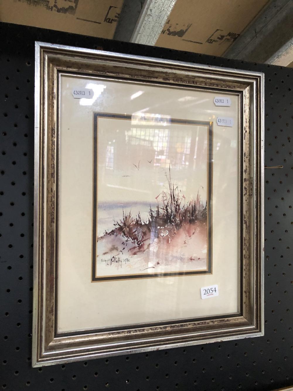 "Robin Kittelty, ""Beach Scene, 1982"" watercolour 35 x 29cm (frame)"