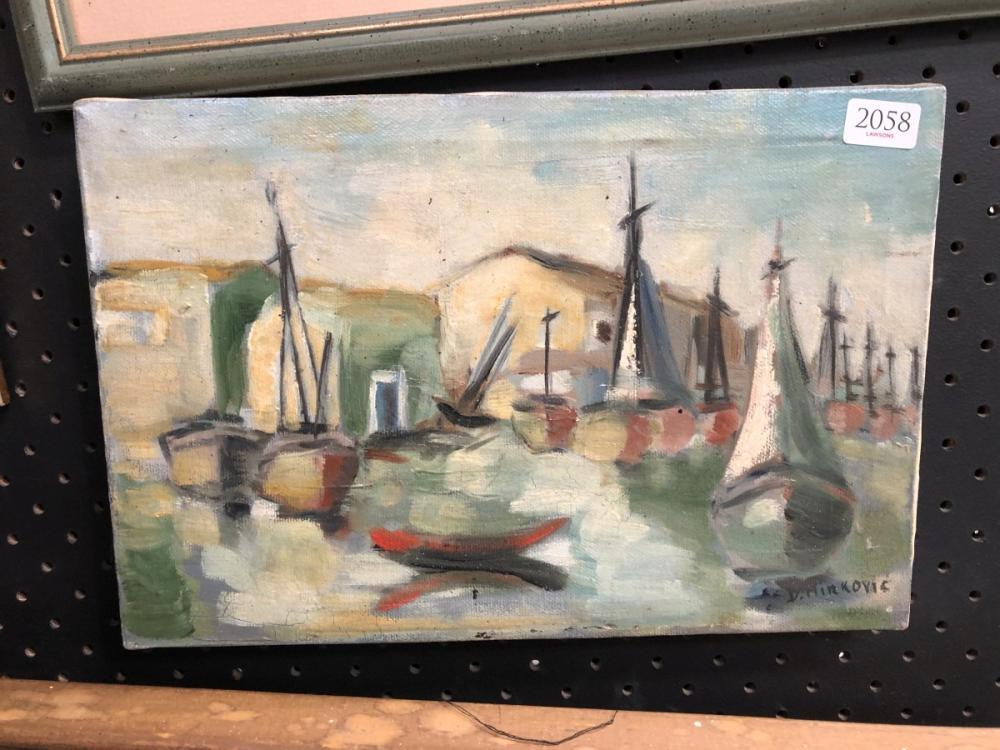 D Mirkovis - Port Scene 20 x 30cm