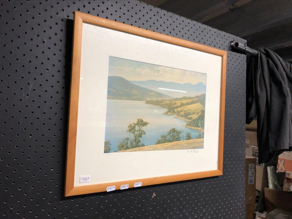 "Richard Stanley - ""Tasmanian Lake Scene"" (25cm x 35cm)"