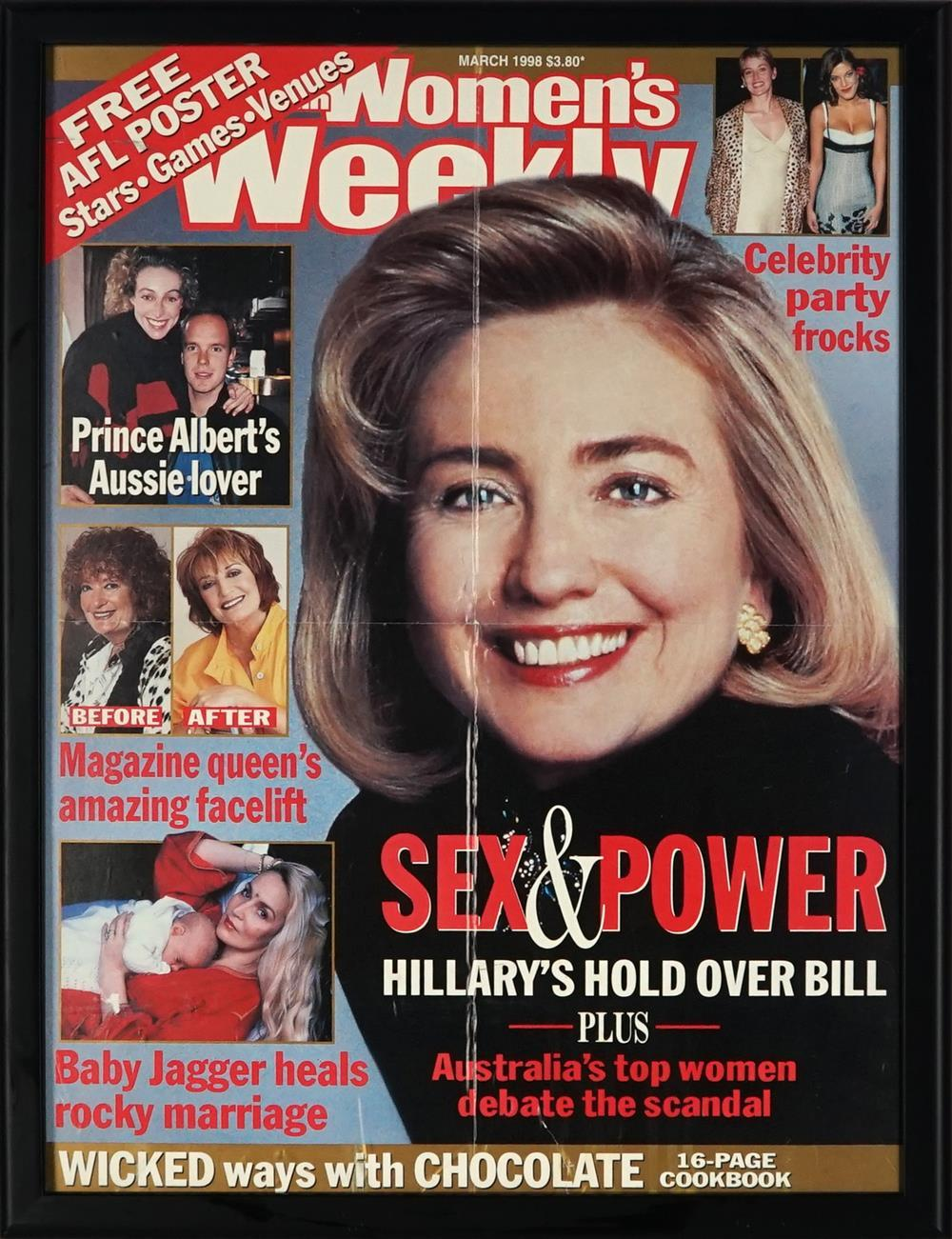 (3 WORKS) Women's Weekly March 1998, Sex and Power, Hillary's Hold over Bill...print, 54 x 40.5cm; Phantasm Comes Again, daybill pos...