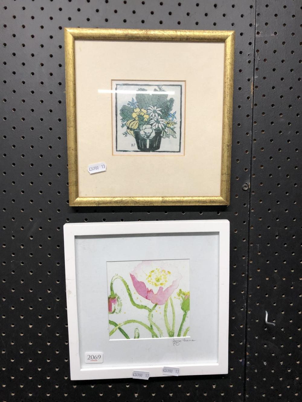 2 Works: Small Framed Margaret Preston Print And Another