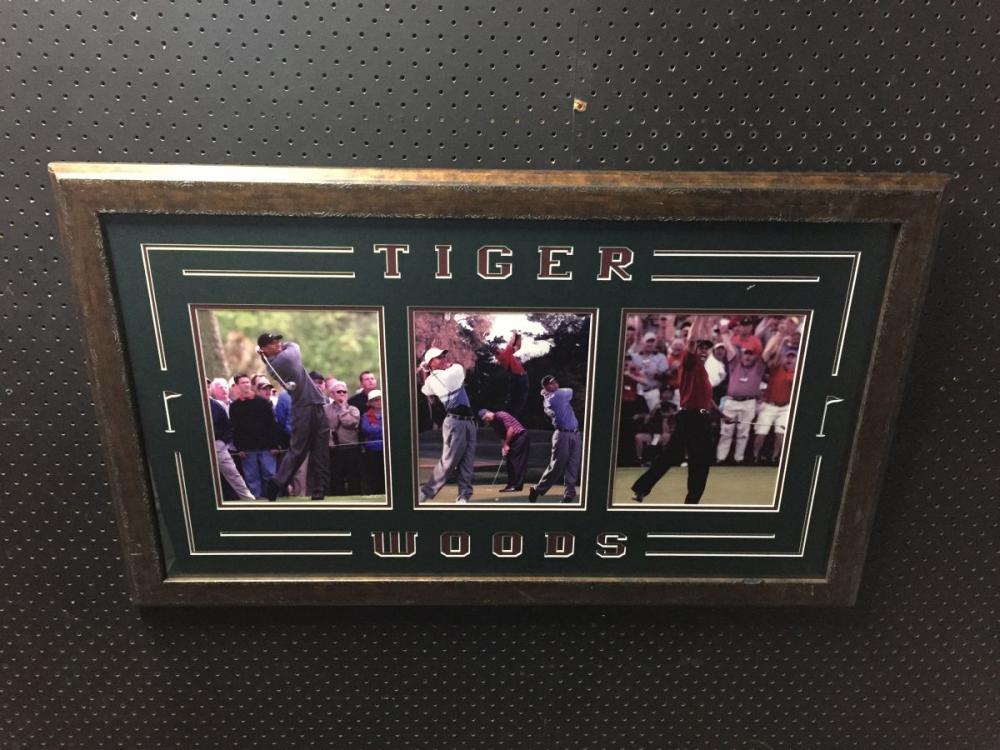 Tiger Woods Photographs, framed