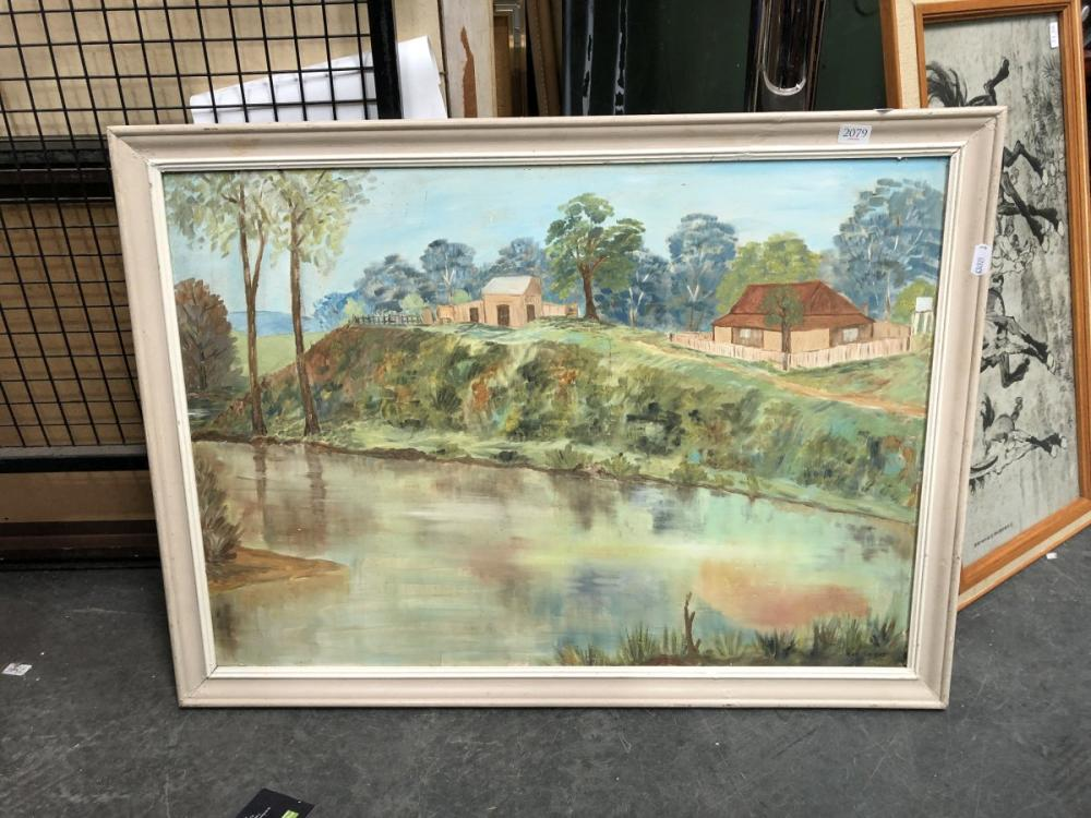 Eva Knight - Landscape, oil on board, SLR, 46x65cm
