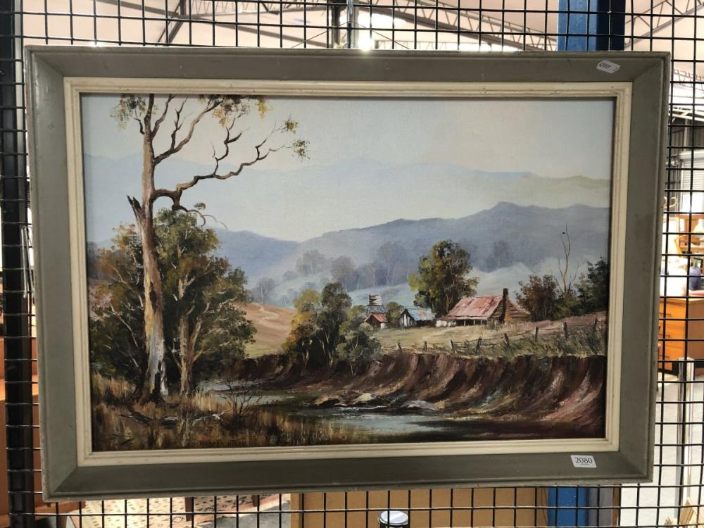 Marcia Kirby - Country Landscape, oil on board, signed, 40x60cm