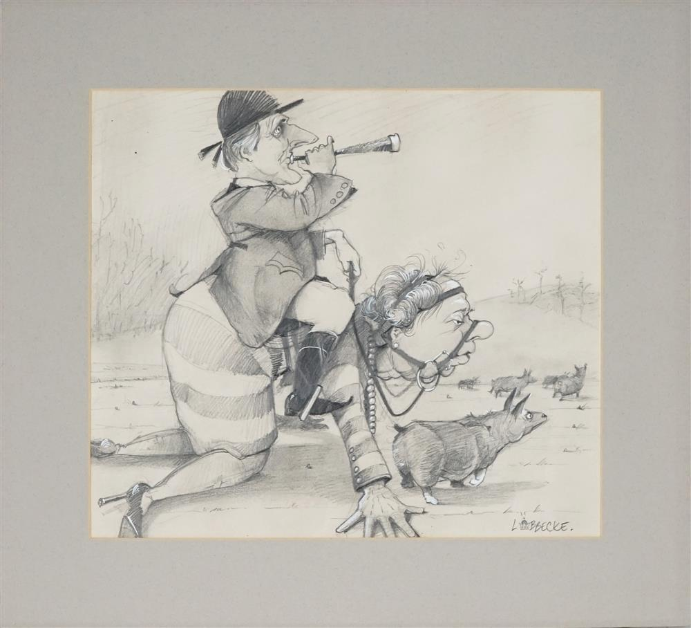 Eric Lobbecke - Pony Girl ,1993 pencil and bodycolour on paper