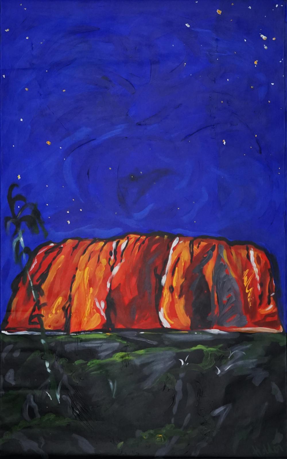 Artist Unknown - Uluru at Night 120.5 x 75cm