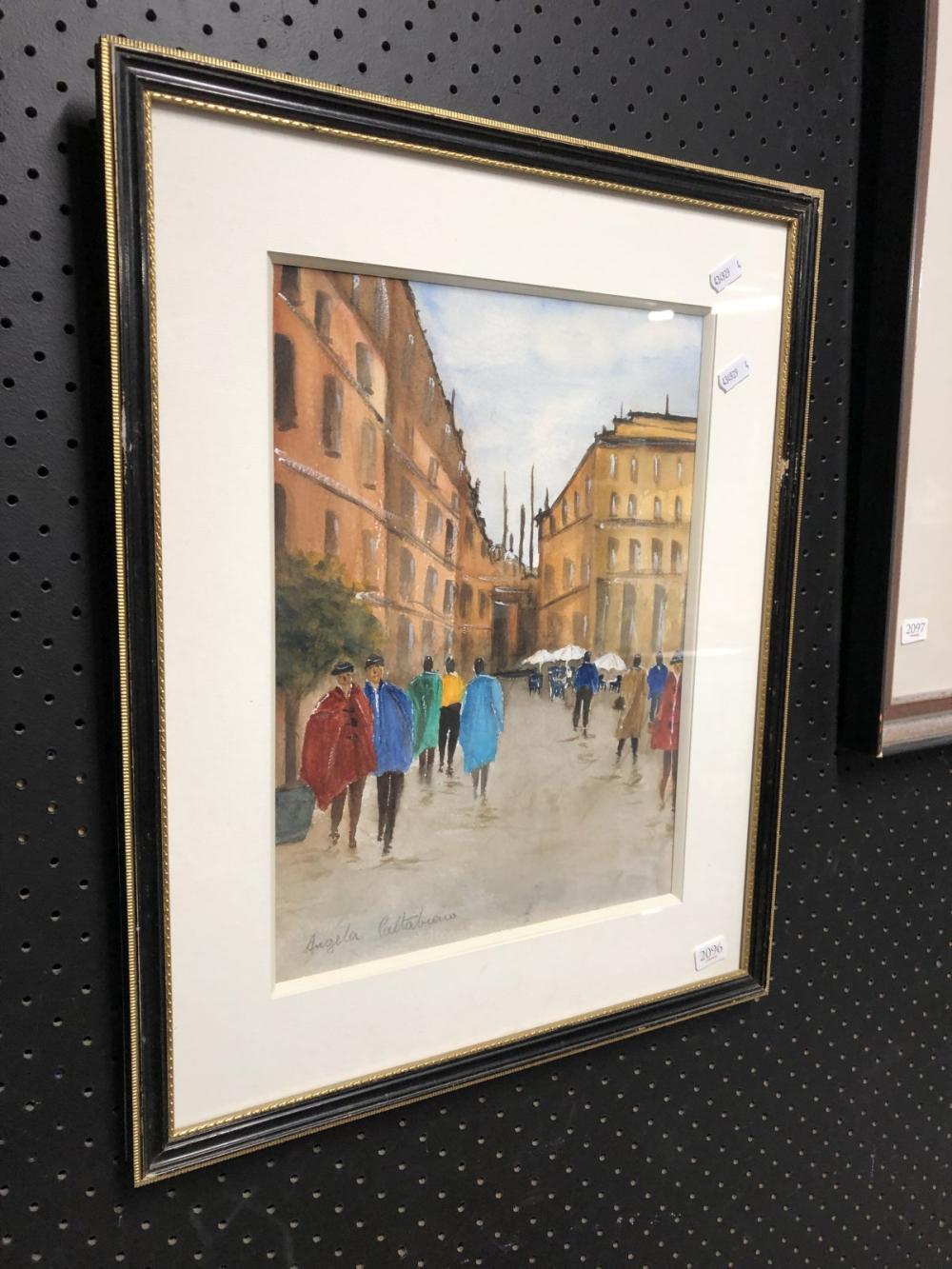 Angela Caltabiano - Street Scene, SLL. 36x26cm