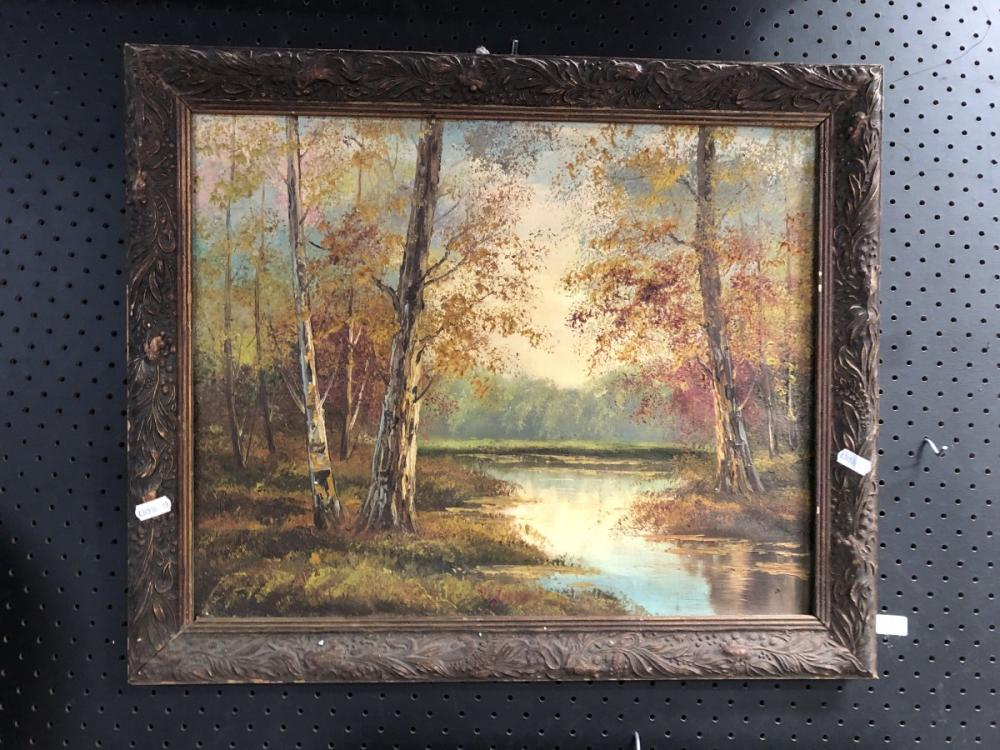 Canadian Lake, oil painting