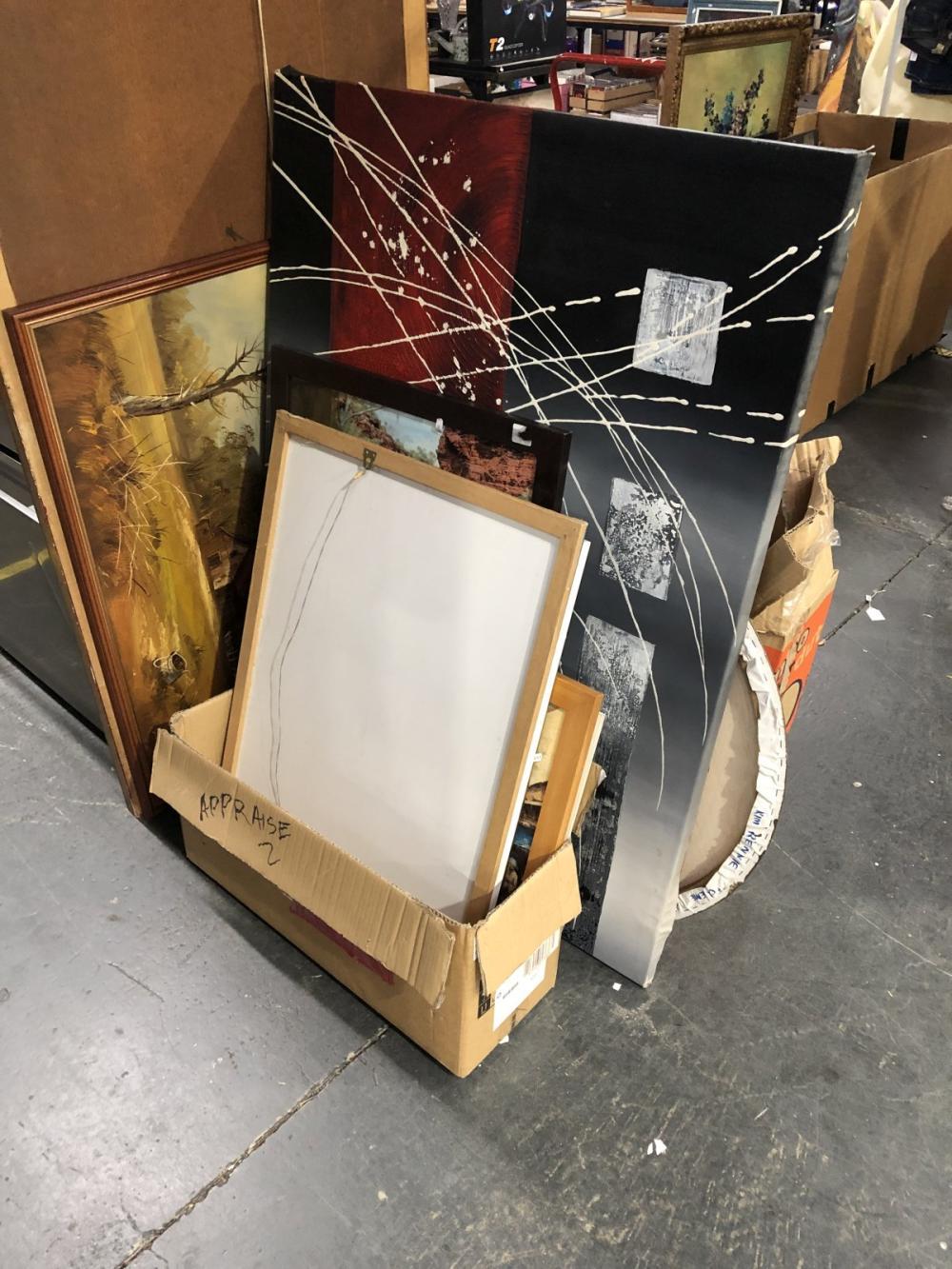 Large Assortment of  Various Artworks incl. original paintings and decorative prints