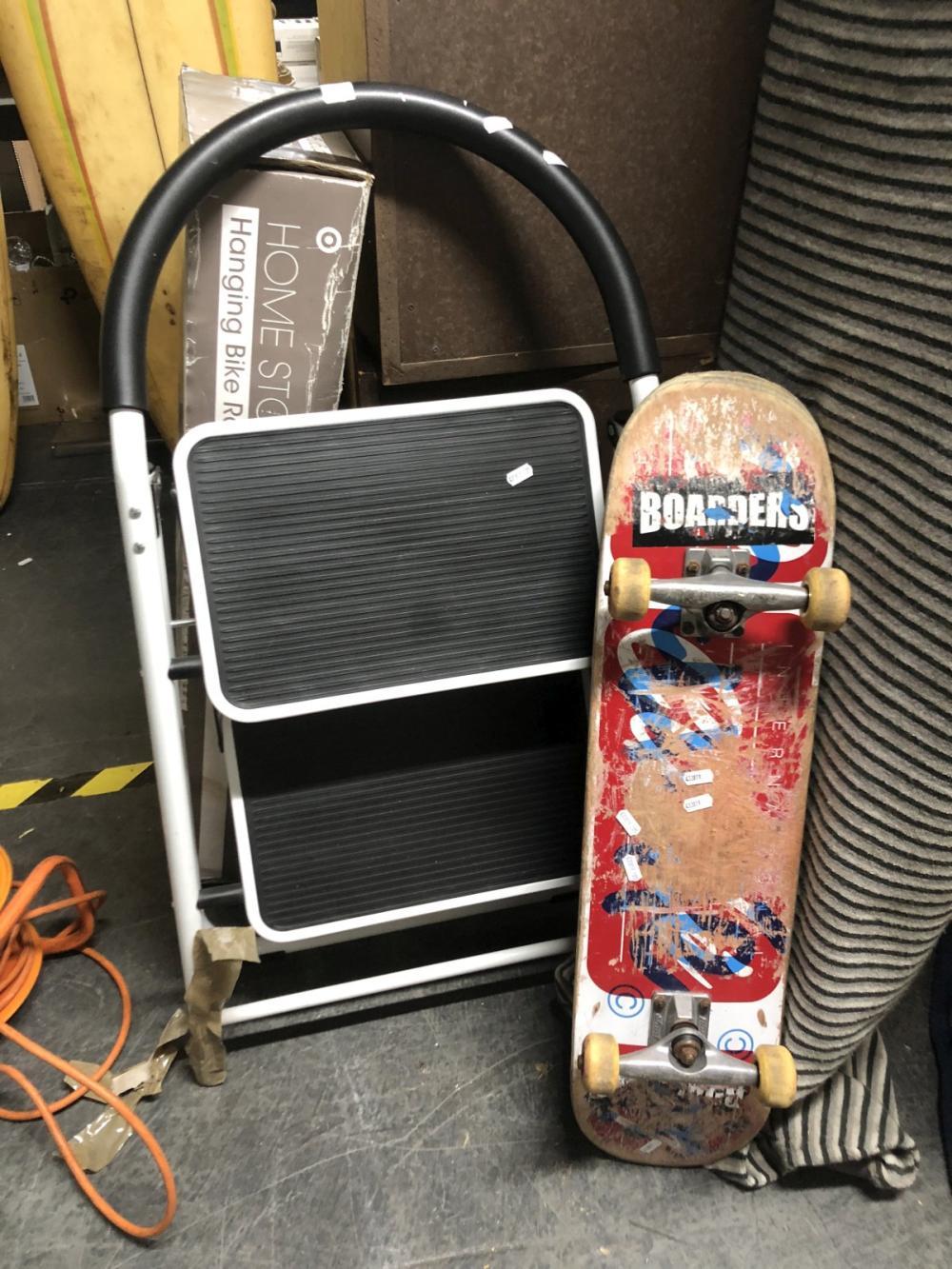 Step Ladder & Skateboard