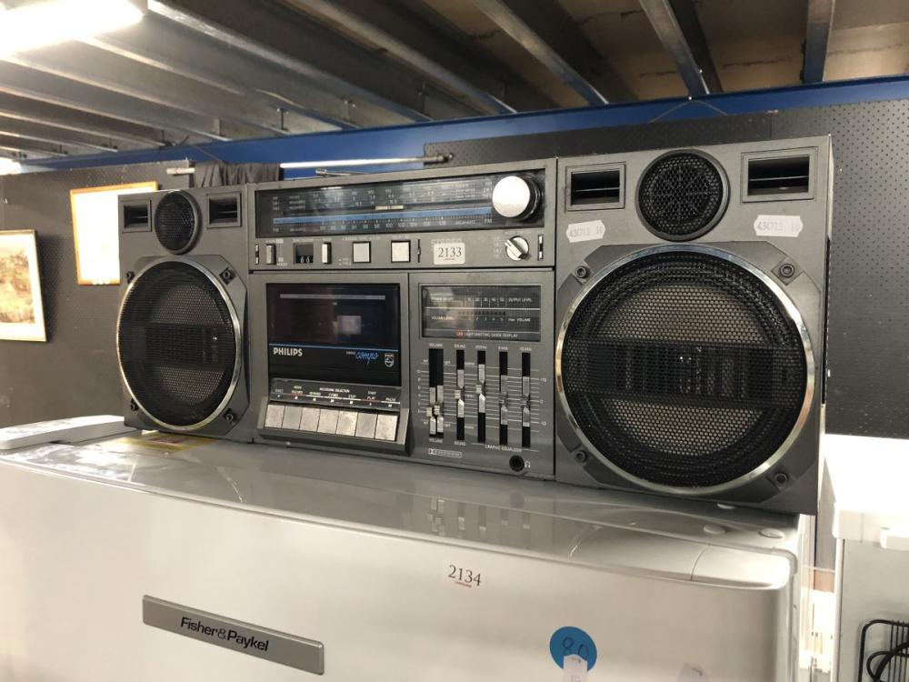 Vintage Philips Ghetto Blaster