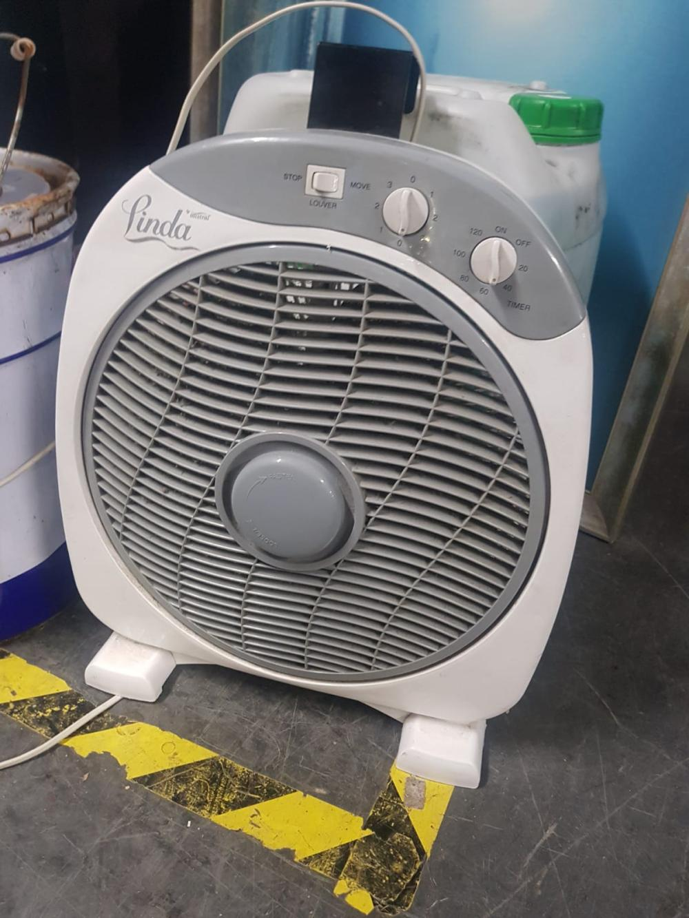 Linda by Mistral Fan with Hook Attached to Back