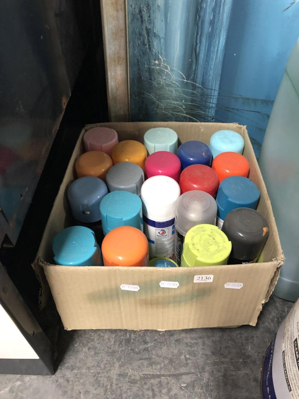 Box of Spray Paint