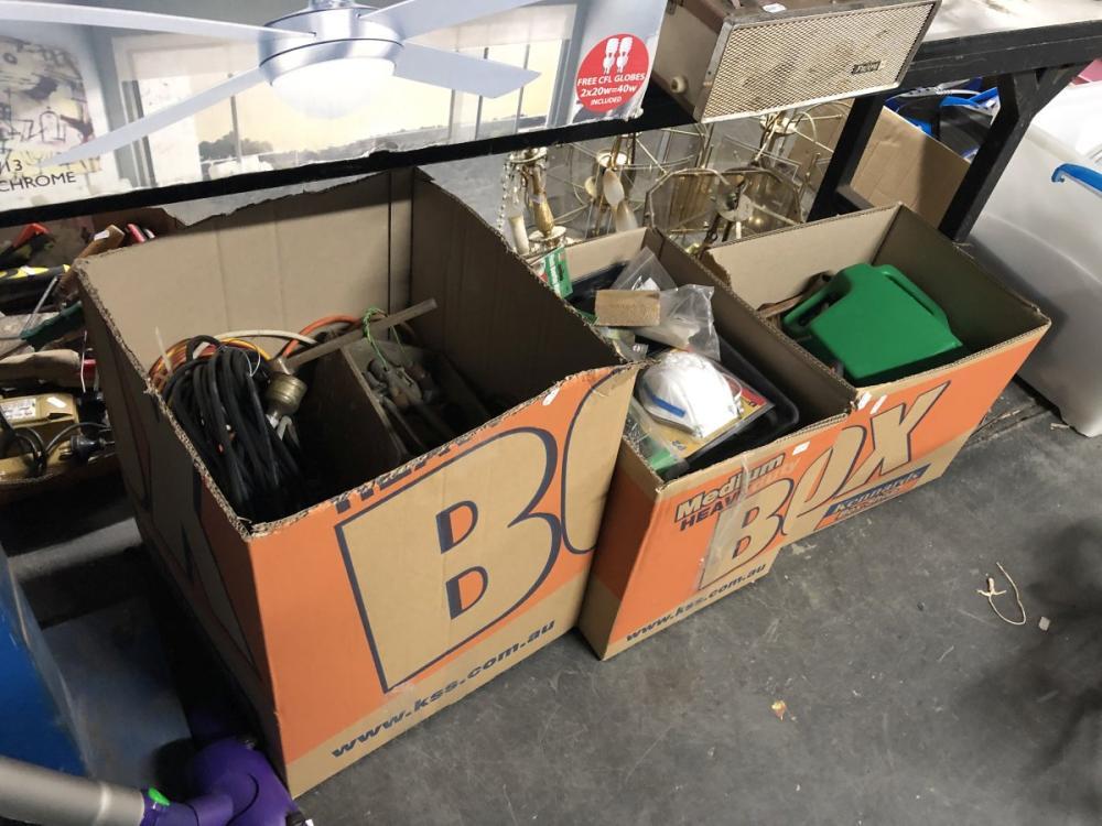 3 Boxes of Powertools