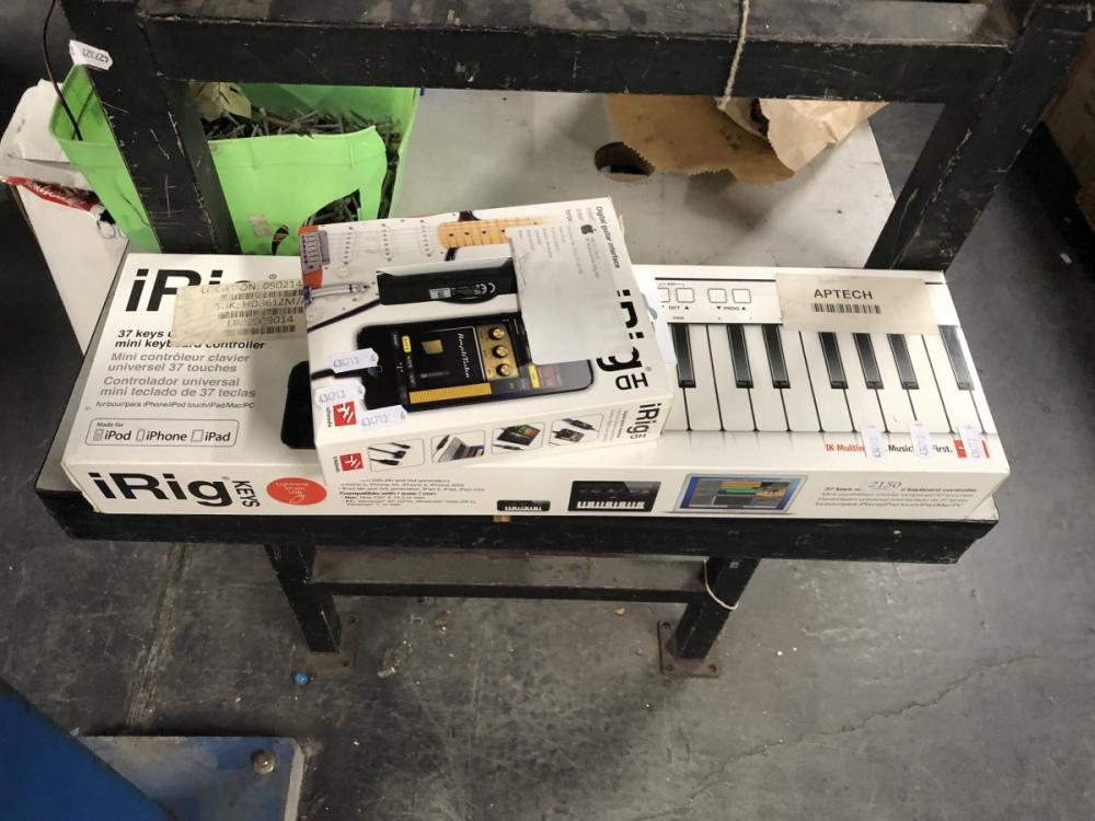 iRig Keys. 37 Keys Universal mini Keyboard Control with iRig Pro Audio-MIDI Interface