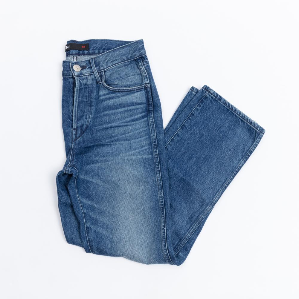 Pair of 3 x 1 blue denim jeans, cut no. 1169, size 25 (approx size 6)