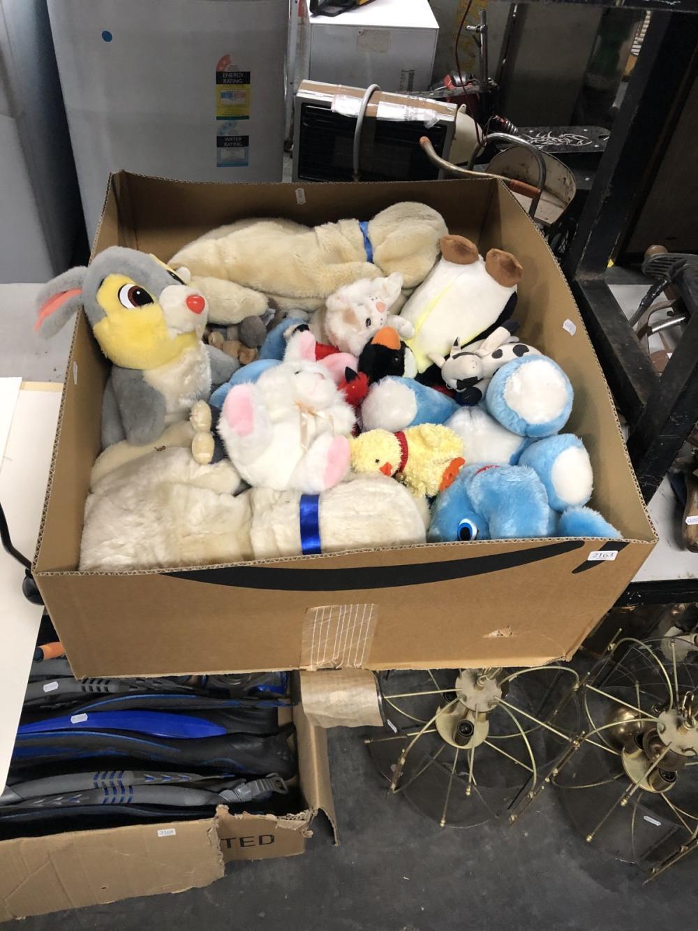 Box of Stuffed Animals