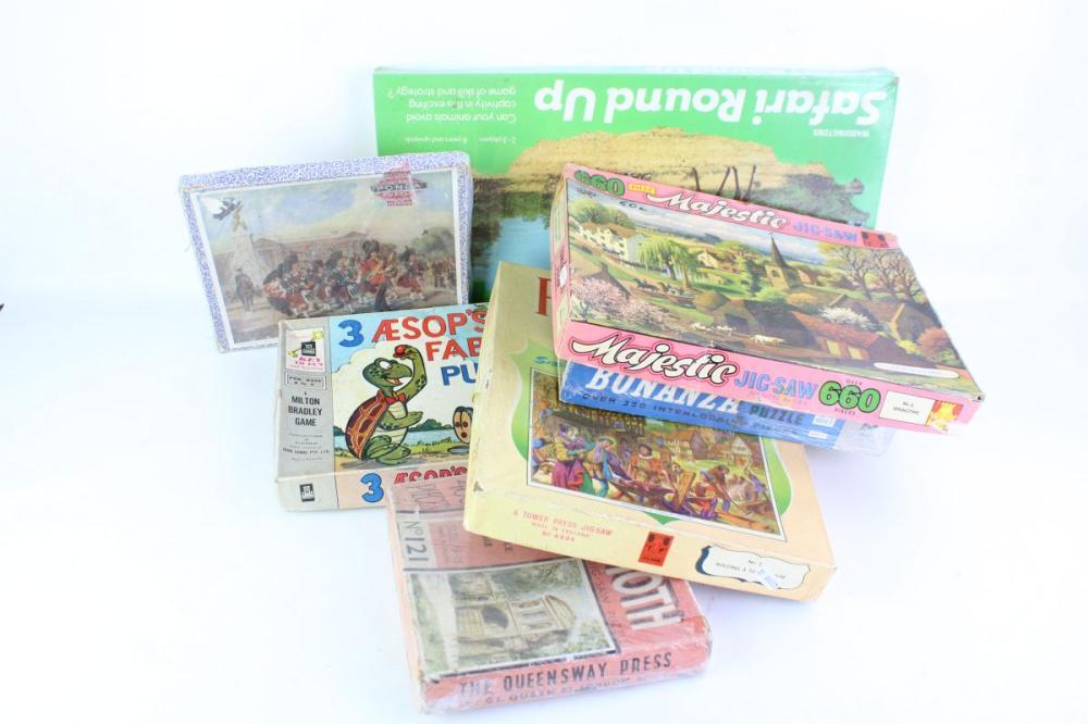 Collection Of Vintage Puzzles Including Bonanza!
