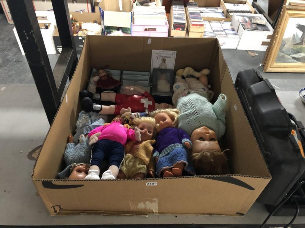 Box of Assorted Dolls