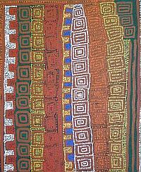 Patrick Tjungurrayi (1943 -) - Tingari 95 x 78cm