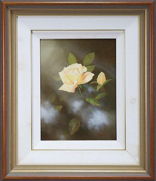 Michael Taylor (1933 -) - Yellow Rose 40 x 30cm