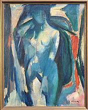 Herbert Kemble (1894 - 1986) - Blue Nude 100 x 70cm