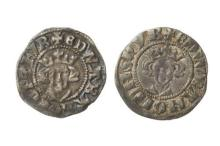 TWO EDWARD III SILVER PENNIES; 1344 - 1351, London Mint, obv. Crowned bust facing / rev. long cross and three pellets in each quarte...