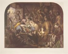 John Robert Dicksee (1817 - 1905) - A Primrose from England (After Edward Hopley) 60 x 72cm