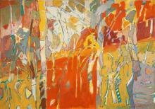 Anneke Silver (1937 - ) - Chi Landscape, 2006 74 x 705cm