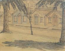 Sydney Ure Smith (1887 - 1949) - Untitled, 1945 (Residences) 18.5 x 23cm