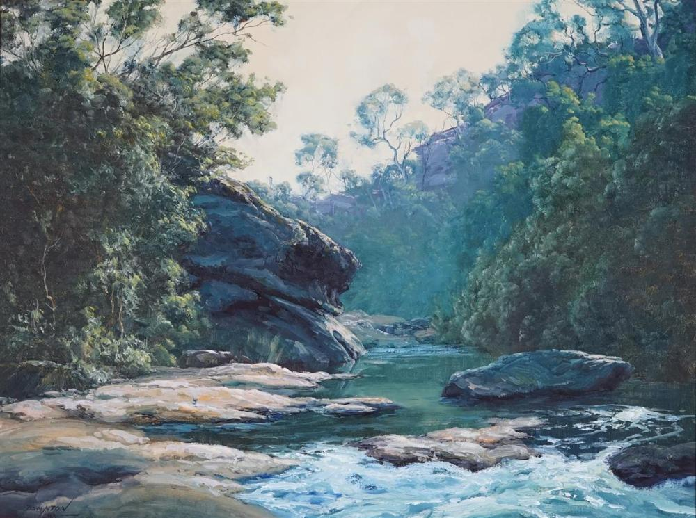 John Downton (1939 - ) - Bomaderry Creek 1988 45 x 60.5cm