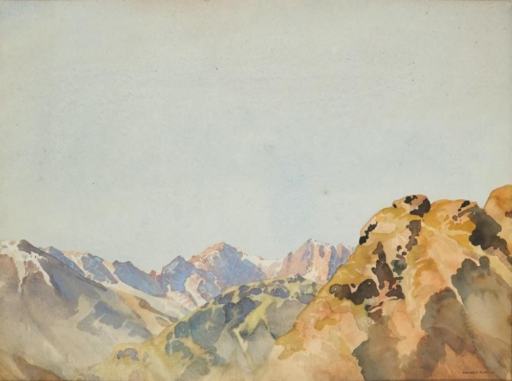 William Russell Flint (1880 - 1969) - Wrynose Pass 32 x 48cm