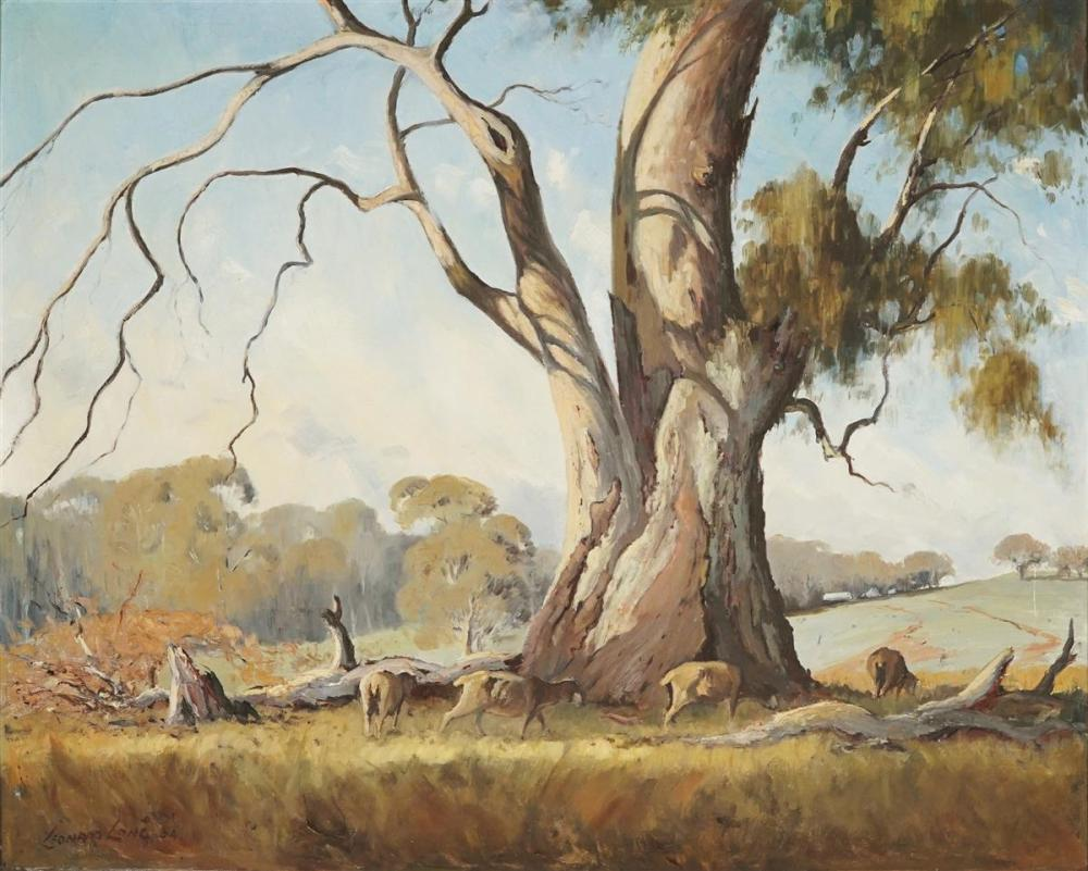 Leonard Long ( 1911 - 2013) - The River Gum, Cowra N.S.W 60 x 75cm