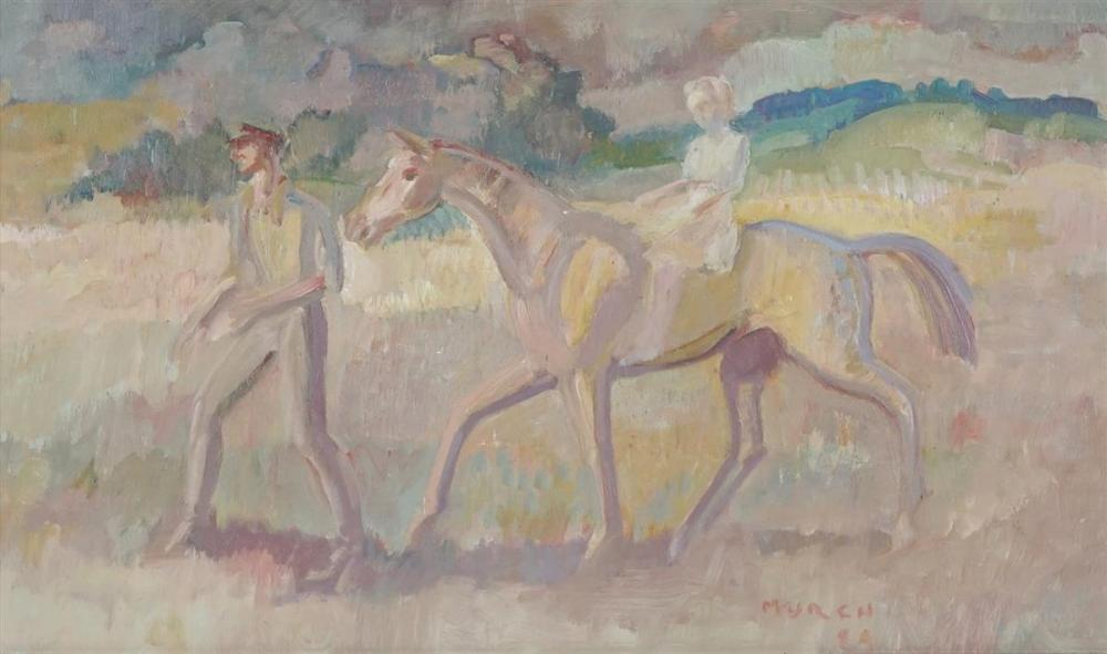 Arthur Murch (1902 - 1989) - Riding Lesson, 1984 32 x 52m