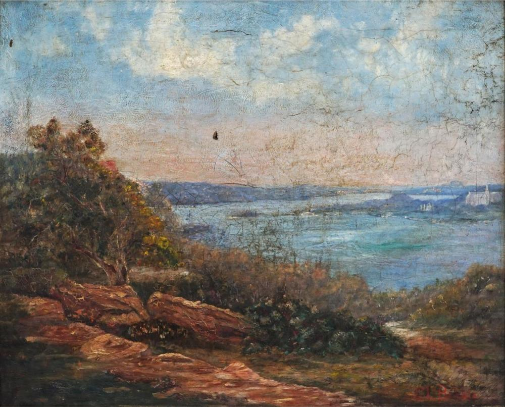 Colonial School (C19th) - Vaucluse from Bellevue Hill 42 x 52cm