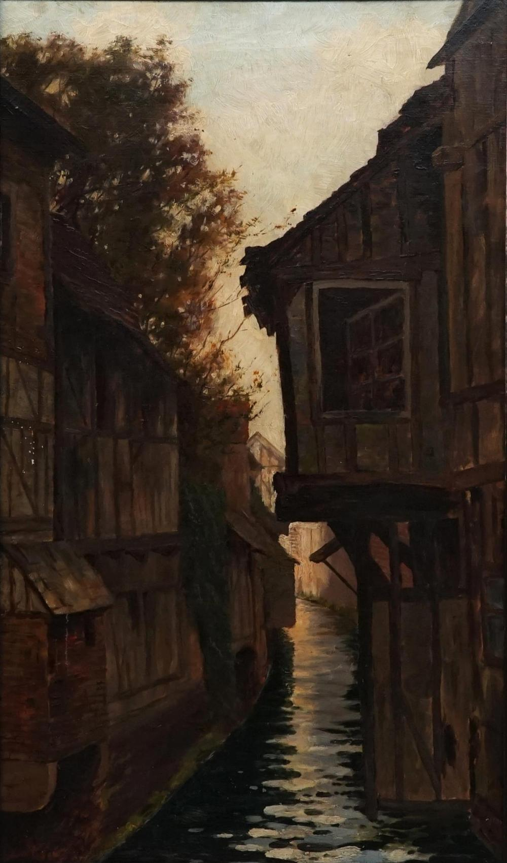 Artist Unknown - Canal Scene 72.5 x 42.5cm